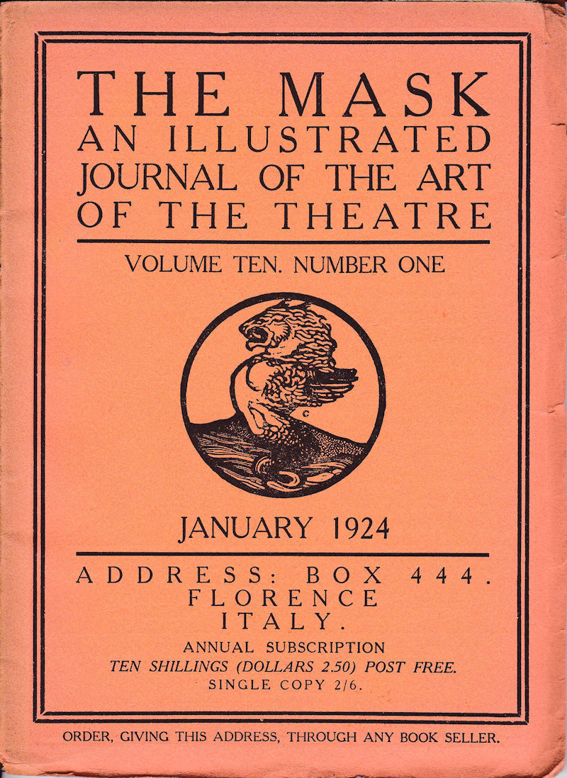 edward gordon craig and theater essay Edward henry gordon craig (1872-1966) was a member of the lyceum, london, where he received training as an actor and began his career in stage design and production (1889-95).